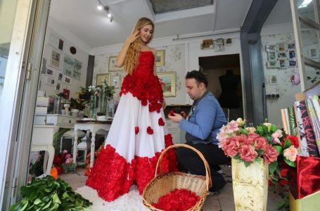 Haljina od 1000 ruža riječkog cvjećara: Radio sam je 36 sati