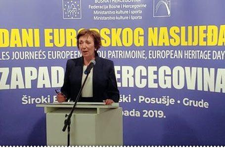 Ministrica Dujmović u Širokom Brijegu otvorila 'Dane europskog nasljeđa'