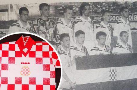 Dres nogometne reprezentacije Herceg-Bosne na aukciji, s zanimljivom pričom iz 1996.